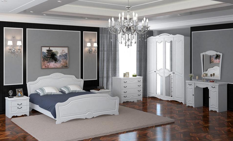 спальня лотос белая купить по низкой цене в магазине мебель легко